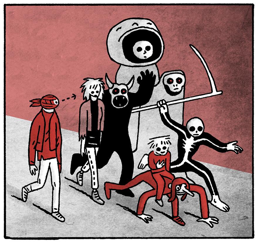 Les nuits rouges du théâtre d'épouvante, par Alexandre Kha