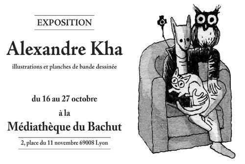 Exposition Alexandre Kha à la médiathèque du Bachut