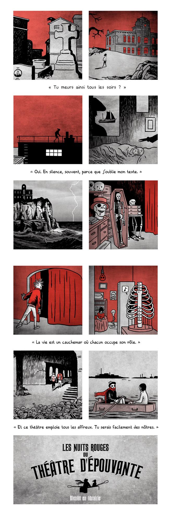 Les nuits rouges du théâtre d'épouvante