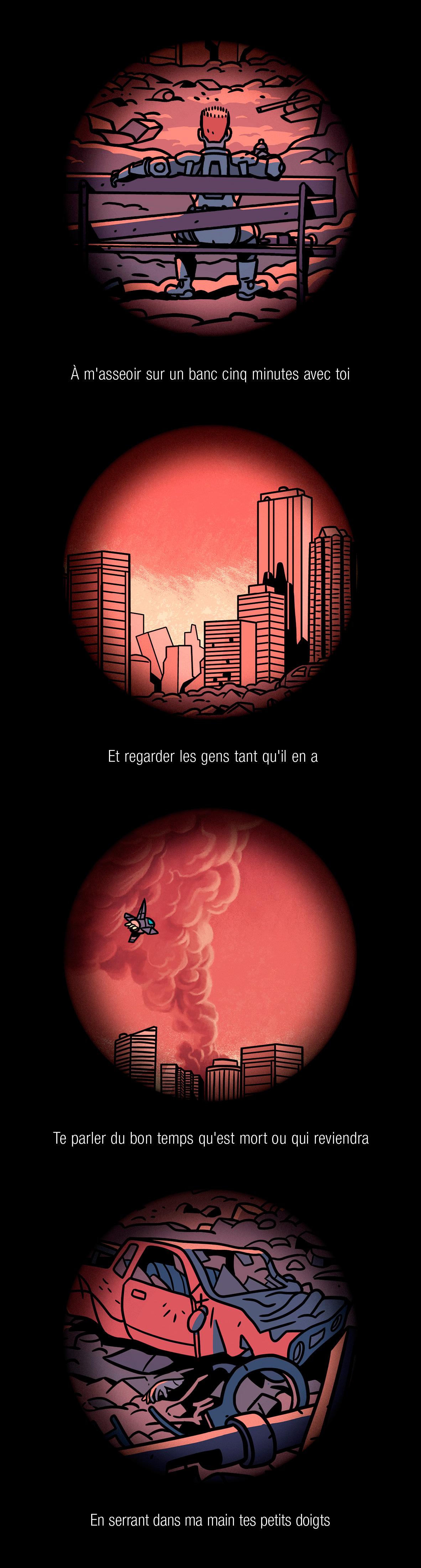 Chilling, affiche d'Aurélien Maury