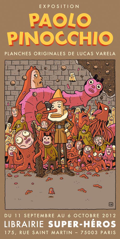 Exposition Paolo Pinocchio à la librairie Super-Héros